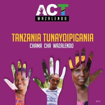 Tanzania tunayoipigania