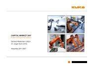 capital market day - KUKA Aktiengesellschaft