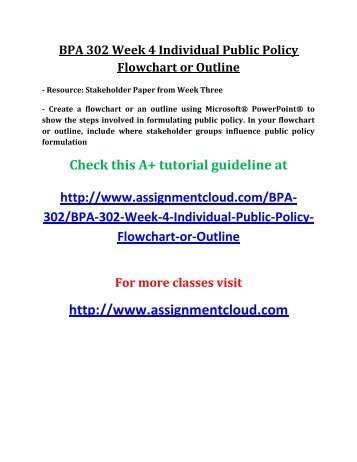 Bpa 302 Week 4 Individual Assignment Public Policy Flowchart Or