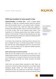 Press release to download (PDF-format) - KUKA Aktiengesellschaft