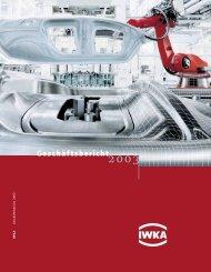 Geschäftsbericht 2003 (PDF) - KUKA Aktiengesellschaft