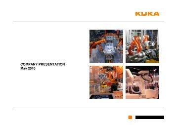 Company_presentation_ 20100511 - KUKA Aktiengesellschaft