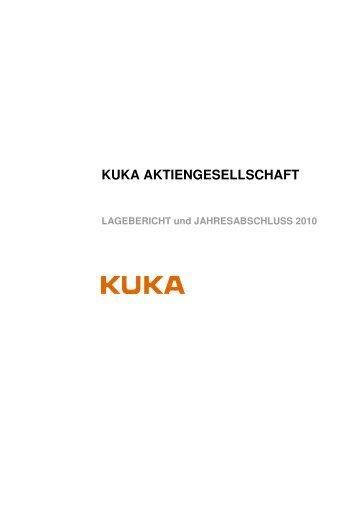 Jahresabschluss 2010 - Kuka