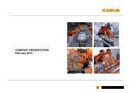 Company_presentation_ 20100208 - KUKA Aktiengesellschaft