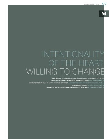 INTENTIONALITY OF THE HEART WILLING TO CHANGE