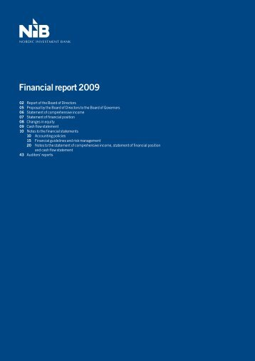 Financial report 2009