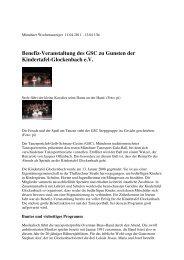 Benefiz-Veranstaltung des GSC zu Gunsten der Kindertafel ...