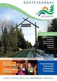 Gästejournal März 2012 (PDF) - Der Oberharz