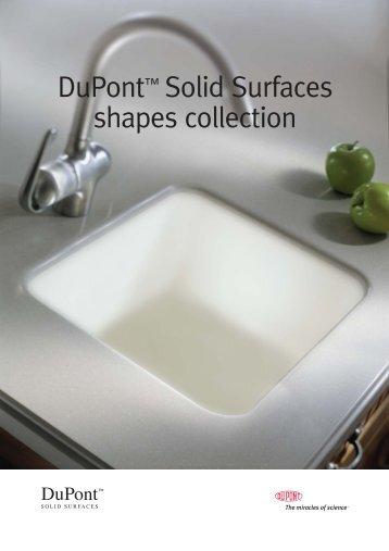 DuPont™ Solid Surfaces shapes collection