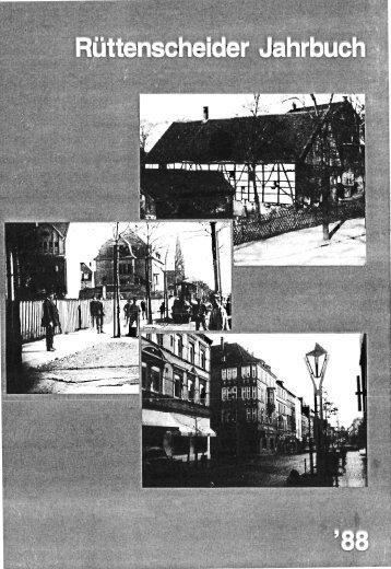 Rüttenscheider Jahrbuch ´88 - Interessengemeinschaft ...