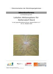 Ideenkonferenz Lokalen Aktionsplans für Hellersdorf-Nord