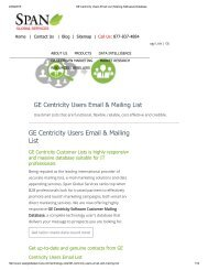 Buy Customized GE Centricity User Lists from Span Global Services