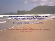 GGOS and how it relates to Geohazards (pdf/5428 KB)