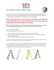 Portable Ladder Safety Tips