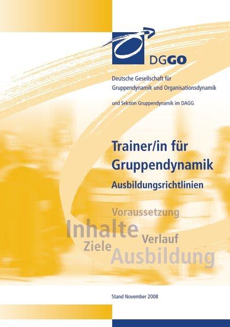 Ausbildungsrichtlinien - DGGO