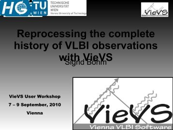 Reprocessing the complete history of VLBI observations with VieVS