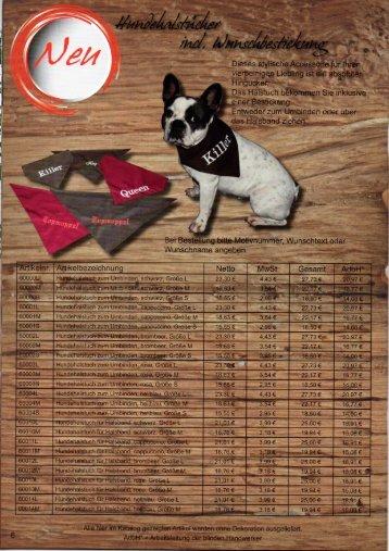 Blindenwerkstatt Hundehalstuch fürs Halsband und zum Umbinden incl. Bestickung