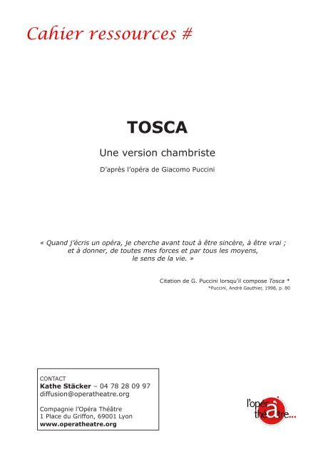 Cahier ressources # TOSCA