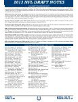 2013 INDIANAPOLIS COLTS NFL DRAFT RELEASE - Page 3