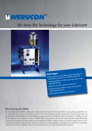 We have the Technology for your Lubricant - Werucon ...
