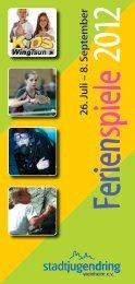 Programm Ferienspiele 2012 - Wing Tai