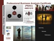 Professional Business Analysis Certificate (PBAC) - Advanced ...