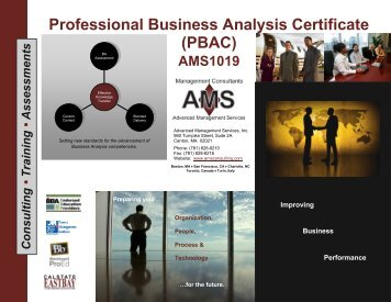 Professional Business Analysis Certificate (PBAC) - Advanced ...