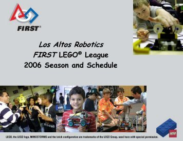 LEGO League 2006 Season and Schedule