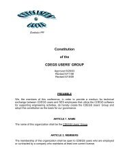 Constitution of the CDEGS USERS' GROUP