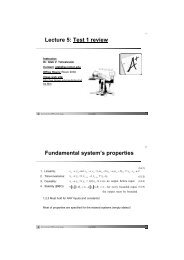 Lecture 5 Test 1 review Fundamental system's properties