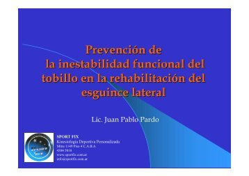 Inestabilidad Funcional del tobillo