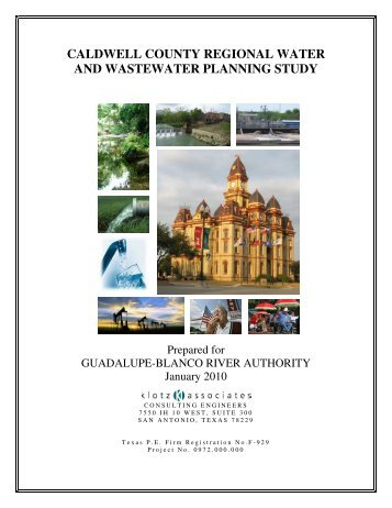 CALDWELL COUNTY REGIONAL WATER AND WASTEWATER PLANNING STUDY