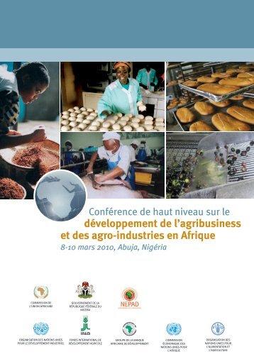 développement de l'agribusiness et des agro-industries en Afrique
