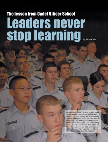 Leaders never stop learning