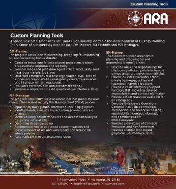 Custom Planning Tools