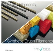 Abrasive Filaments Synthetic Brush Filaments