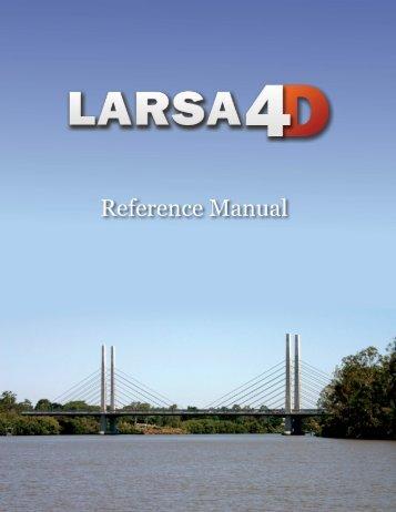 LARSA 4D Reference Manual - LARSA, Inc.