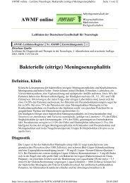 Bakterielle (eitrige) Meningoenzephalitis AWMF online - Reanitrain