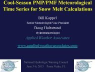 Time Series for Snow Melt Calculations