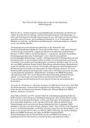 Eine Übersicht über Tätigkeiten in fünf Jahrzehnten - Sylter Runde