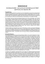 Der Software-Architekt - Sylter Runde