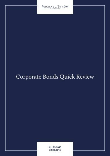 Corporate Bonds Quick Review