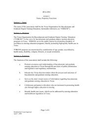 Page 1 of 6 BYLAWS Article I. Name, Purposes ... - TOBGNE org
