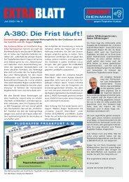 EXTRABLATT - bei der Initiative Zukunft Rhein-Main