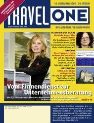 Vom Firmendienst zur Unternehmensberatung - Travel-One