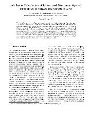 Ab Initio Calculation of Linear and Nonlinear Optical Properties of ...