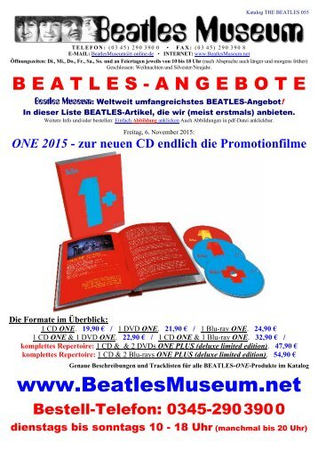 Beatles Museum - Katalog 55 mit Hyperlinks