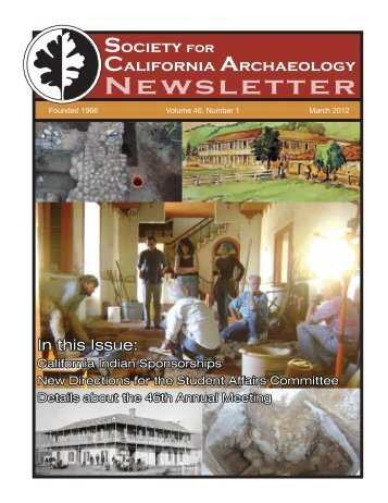 Committee Reports, continued - Society for California Archaeology