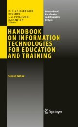 Handbook on Information Technologies for Education and Training ...