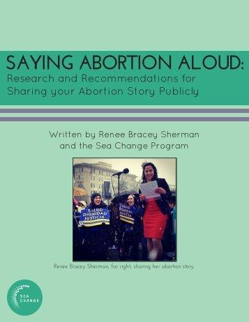 SAYING ABORTION ALOUD